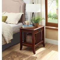 Mission Nightstand with Charging Station