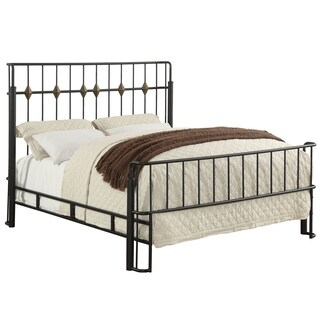 Furniture of America Ryan Industrial Style Sand Black Metal Bed (3 options available)