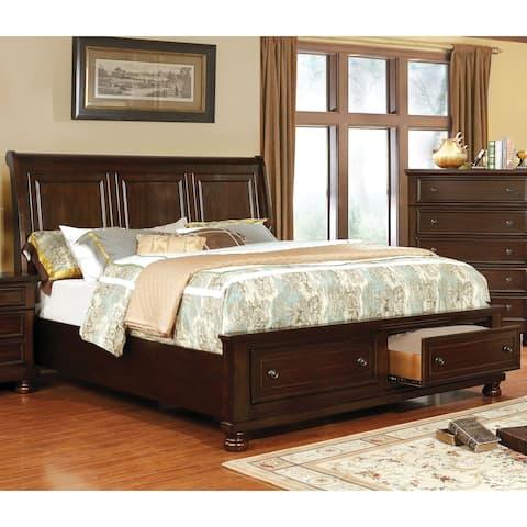 Verona Traditional Storage Platform Bed by FOA