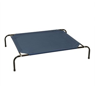 ALEKO Basic Elevated Dog Cat Pet Bed Steel Frame 51 x 31.5 x 8 Inches