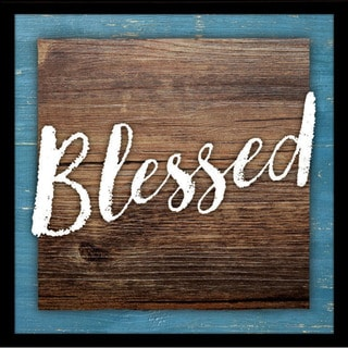 """Blessed Wood Plaque with Easel - 7.5"""" x 7.5"""""""