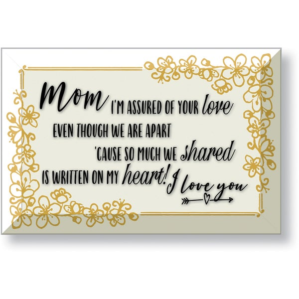 Dexsa A Mom Holds 6 x 4 Glass Plaque with Easel