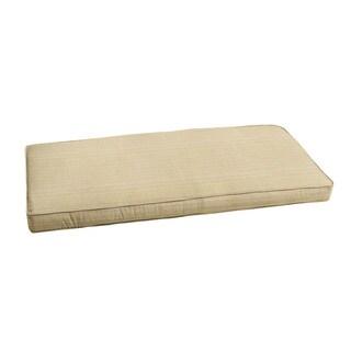 "Sunbrella Textured Beige Indoor/ Outdoor Bench Cushion 55"" to 60"" by Humble + Haute"