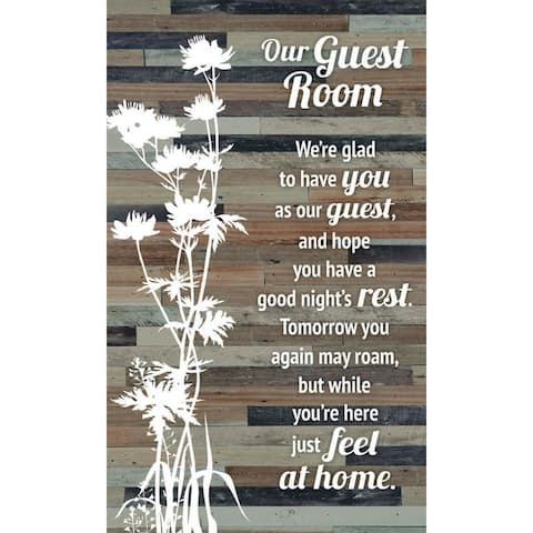 """Our Guest Room Wood Plaque Easel - 6"""" x 9"""""""