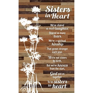 """Sister in Heart Wood Plaque Easel - 6"""" x 9"""""""