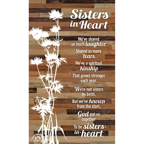 "Sister in Heart Wood Plaque Easel - 6"" x 9"""