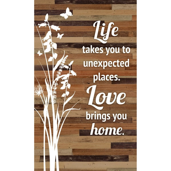 "Life takes you to unexpected places Wood Plaque Easel Hanger - 6"" x 9"""