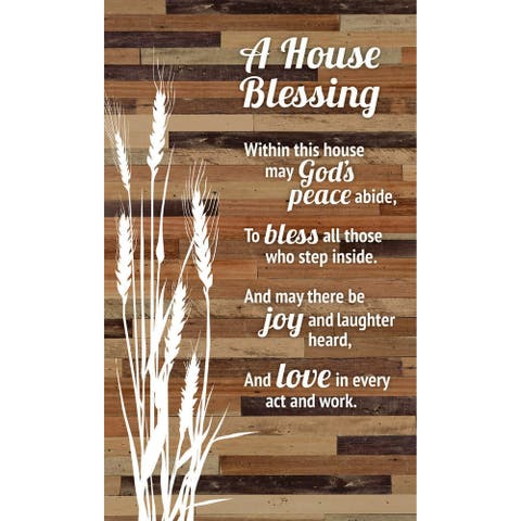 House Blessing Wood Plaque Easel