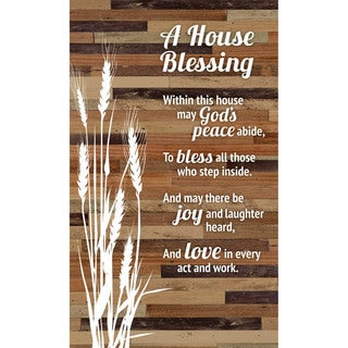 "House Blessing Wood Plaque Easel - 6"" x 9"""