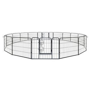 ALEKO Pet Playpen Dog Kennel Cage Fence 16 Panel