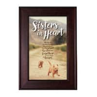 "Sister Wood Framed Easel with Glass - Sisters in Heart - 8.5"" x 12"""