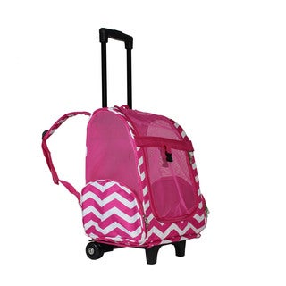 World Traveler 20-Inch Rolling Pet Carrier Backpack Carry-On Convertible