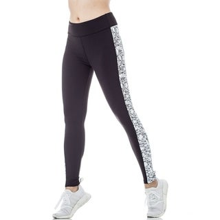 FIGUR ACTIV Women's Active Legging With Body Lifting Lines and Performance Geometric Print