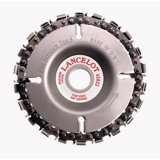 King Arthur's Tools 4 in. Dia. 22 teeth Chain Saw Type Cutting Wheel For Lancelot