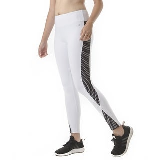 FIGUR ACTIV Women's Active Leggings With Fashion Active Mesh Panels and Pocket