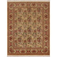 William Morris Pak-Persian Bessarabian Gold/Red Wool Rug (8'1 x 10'5) - 8 ft. 1 in. x 10 ft. 5 in.