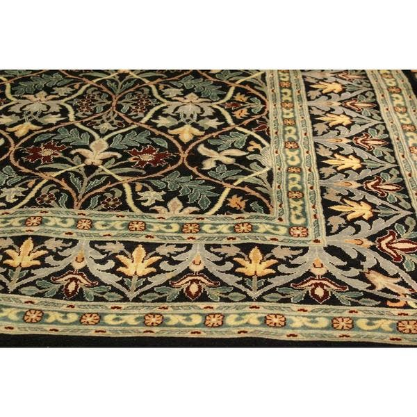 Pak Persian Ester Black Red Wool Rug