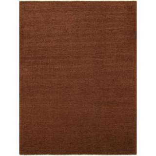 Over Dyed Color Reform Cordelia Brown/Brown Wool Rug (9'0 x 11'10) - 9 ft. 0 in. x 11 ft. 10 in.
