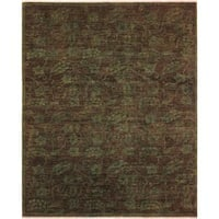 Over Dyed Color Reform Sandee Green/Green Wool Rug (5'10 x 7'3) - 5 ft. 10 in. x 7 ft. 3 in.