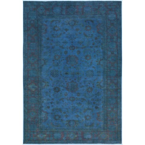 Over Dyed Color Reform Rose Blue/Blue Wool Rug (11'11 x 17'2) - 11 ft. 11 in. x 17 ft. 2 in. - 11 ft. 11 in. x 17 ft. 2 in.