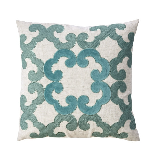 Furniture of America Ryla Contemporary Green Throw Pillows Set of 2