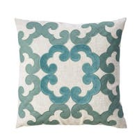 Furniture of America Shayla Scroll Trellis 20-inch Aqua Throw Pillow (Set of 2)