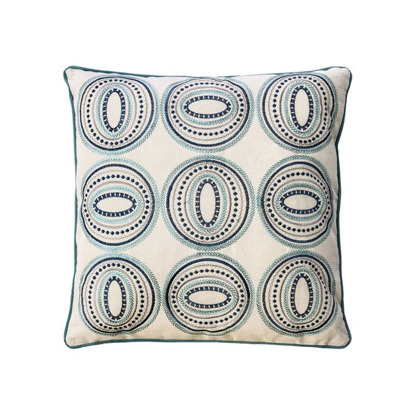 Furniture of America Circles 20-inch Ivory Decorative Throw Pillows (Set of 2)