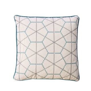 Furniture of America Hexagon 20-inch Ivory and Turquoise Throw Pillow (Set of 2)