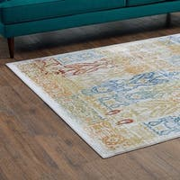 Solimar Distressed Southwestern Aztec Area Rug - 8' x 10'
