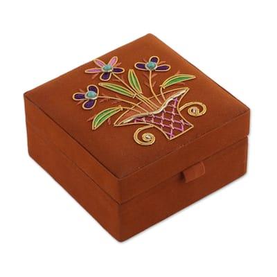 Handmade Delightful Bouquet Jewelry Box (India)