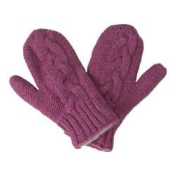 Women's Laundromat Twisted Mittens Berry