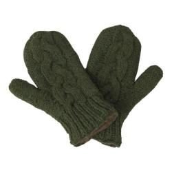 Women's Laundromat Twisted Mittens Evergreen