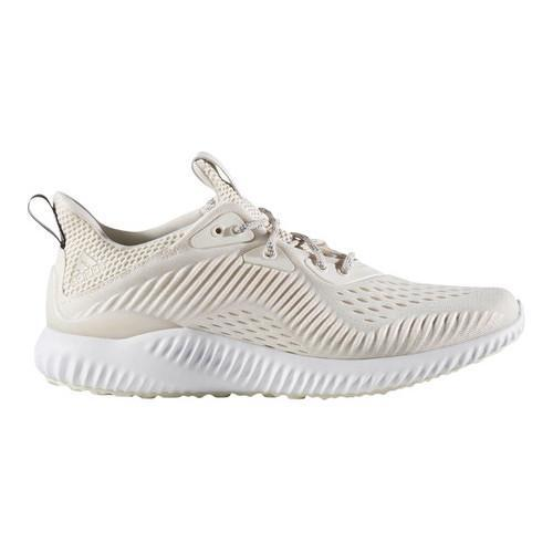 1cbb53fbe Shop Women s adidas AlphaBOUNCE EM Running Shoe Chalk White FTWR  White Pearl Grey S14 - Free Shipping Today - Overstock - 17917540