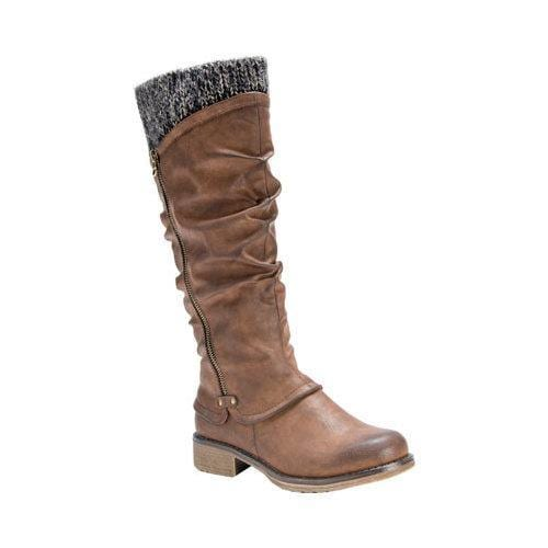 Women's MUK LUKS Bianca Slouch Boot Medium Brown