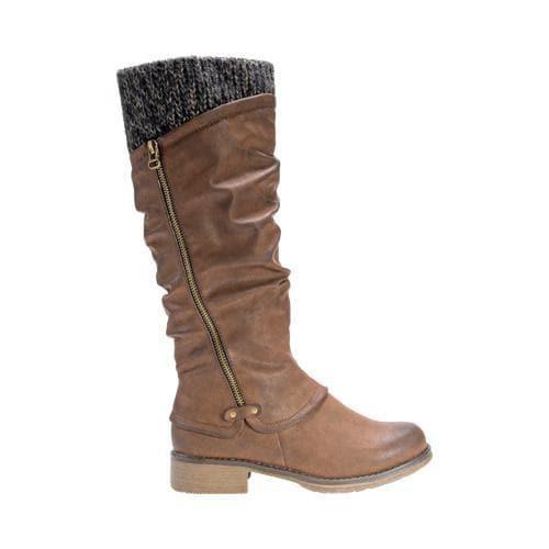 Women's MUK LUKS Bianca Slouch Boot Medium Brown - Thumbnail 1