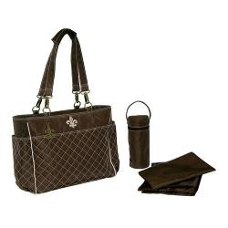Women's Kalencom N'Orleans Tote Quilted Chocolate/Pink Stitching