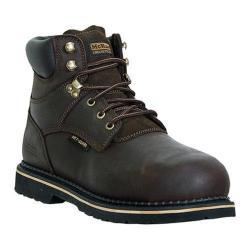 Men's McRae Industrial 6in Metatarsal Lace Up Steel Toe MR86734 Brown Ruff Rider Full Grain Leather