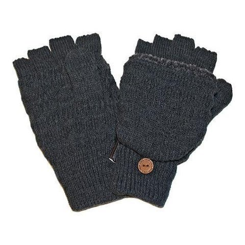Men's MUK LUKS Fairisle Flip Glove Grey