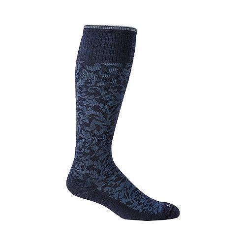 Women's Sockwell Damask Graduated Compression Sock Navy