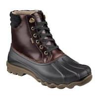 Men's Sperry Top-Sider Avenue Duck Boot Black/Amaretto Leather