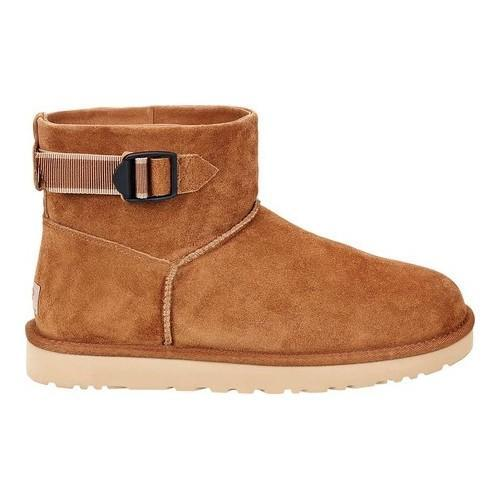 c14351df7f Shop Men s UGG Classic Mini Strap Ankle Boot Chestnut Suede - Free Shipping  Today - Overstock - 17918295