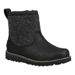 7fb4162f7 Shop Children's UGG Bayson II Waterproof Boot Black Leather - Free ...