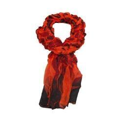 Women's J. Furmani Designer Collection Crinkle Scarf Orange