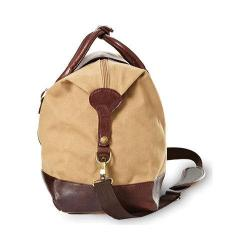 Women's CLAVA 551504 Canvas/Leather Overnighter Khaki Canvas/Cafe Leather