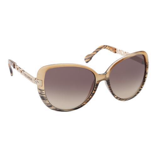 Women's RocaWear R3198 Butterfly Sunglasses Tan/Grey/Gradient Brown