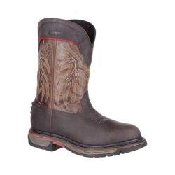 Men's Rocky 11in Iron Skull Waterproof Western Boot RKW0202 Dark Brown Full Grain Leather