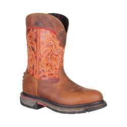 Men's Rocky 11in Iron Skull Western Boot RKW0201 Brown/Burnt Orange Full Grain Leather