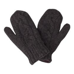 Women's Laundromat Twisted Mittens Graphite