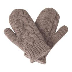 Women's Laundromat Twisted Mittens Pebble