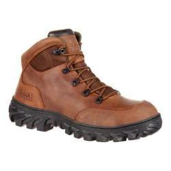 Men's Rocky 6in S2V Composite Toe Waterproof Work Boot RKK0230 Brown Full Grain Leather